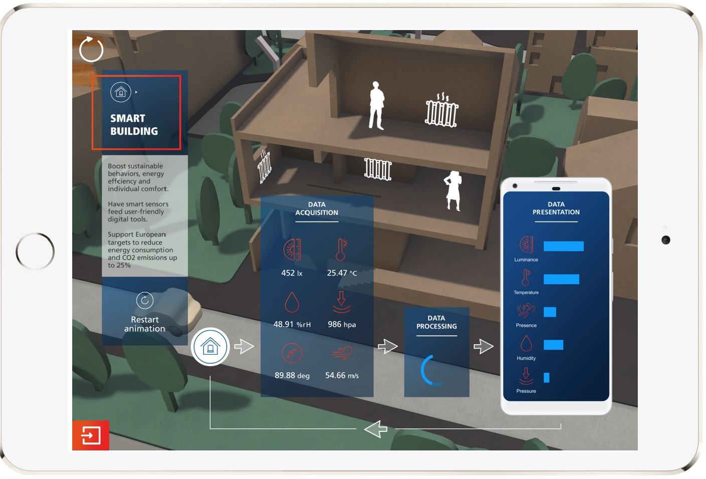 AR Smart City: screenshot